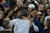 <p>US President Barack Obama greets supporters after speaking during a campaign event in Milwaukee, Wisconsin, September 22. A week on Tuesday, Mitt Romney will face off against Obama in the first of three televised presidential debates.</p>