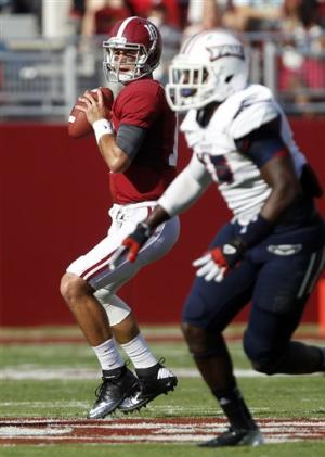 No. 1 Alabama rolls past Florida Atlantic, 40-7