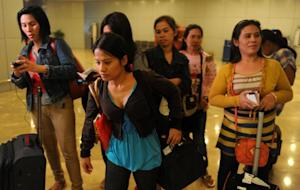 Some of the 30 Filipino workers repatriated from Saudi…