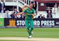 Fast bowler Dale Steyn, pictured here on September 2, was named man-of-the-match for his one for 13 in four overs