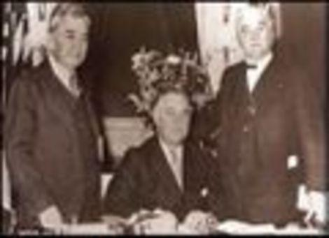 FDR signing legislation for rural electrification
