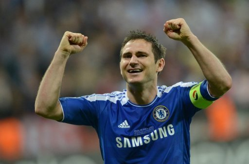 Frank Lampard captained Chelsea to their Champions League win over Bayern Munich on Saturday