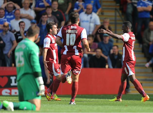 Soccer - Sky Bet Football League Two - Cheltenham Town v Portsmouth - Abbey Business Stadium