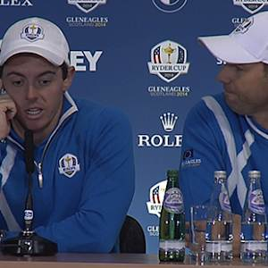 Team Europe talk about their crucial half points