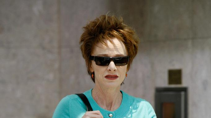 Judy Davis stars as Joan McAllister in The Starter Wife: The Series.