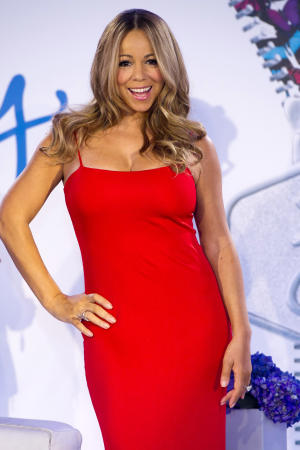 Mariah Carey attends a press event to announce her role as the new brand ambassador for the weight loss program Jenny, in New York, Wednesday, Nov. 9, 2011. (AP Photo/Charles Sykes)