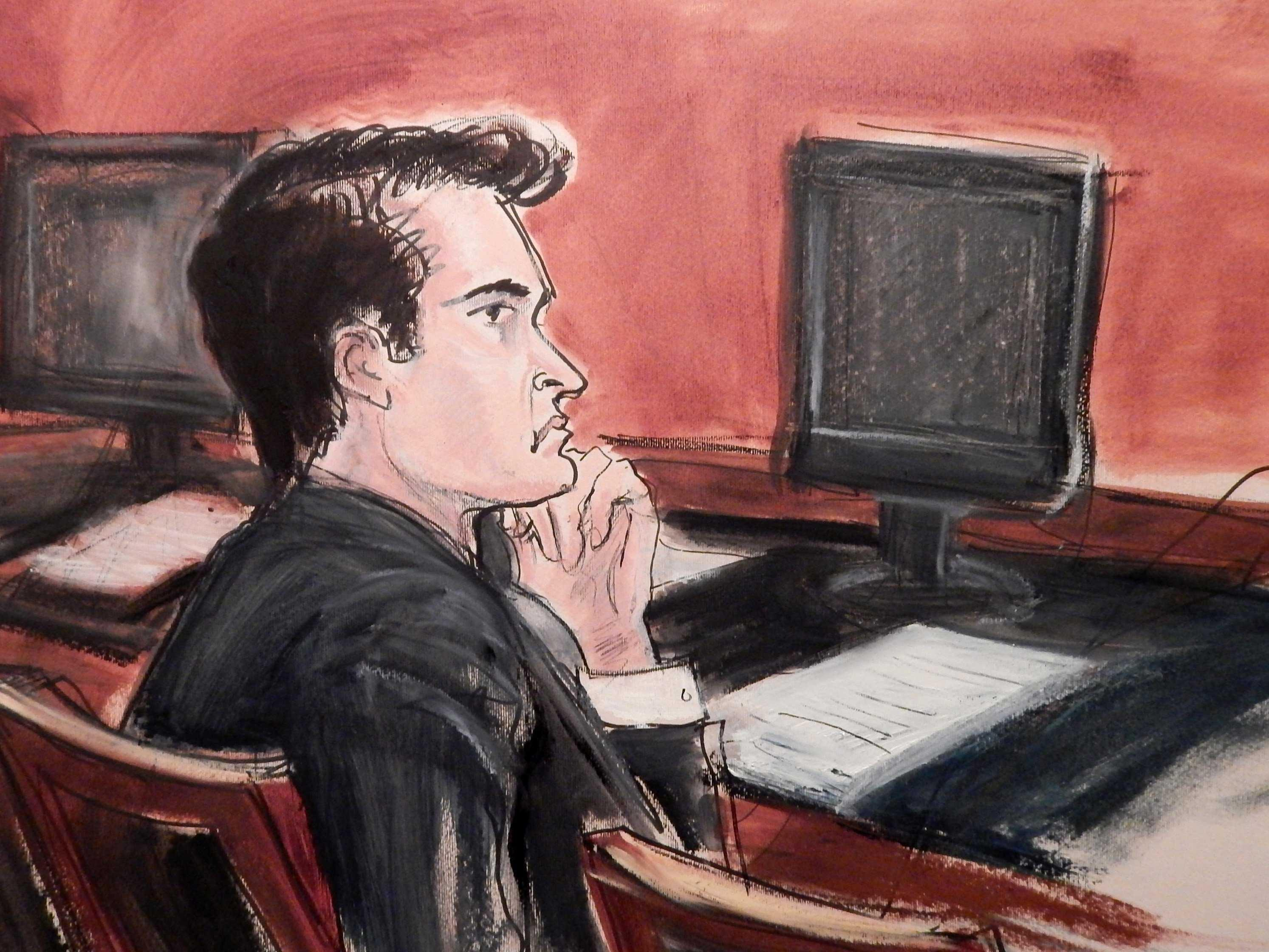 The 31-year-old convicted of running a huge criminal website asks to be spared a life sentence