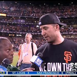 Giants' Travis Ishikawa After Game Winning Homer In NLCS Game 5