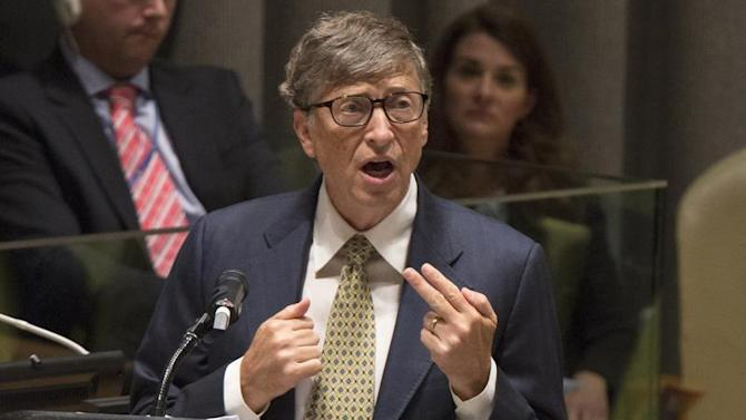 Bill Gates speaks during the Millennium Development Goals event at U.N. Headquarters in New York