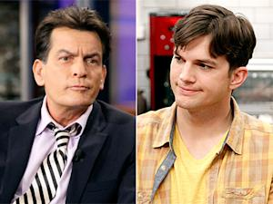 "Charlie Sheen Tells Ashton Kutcher to ""Quit Barfing"" on Two and a Half Men"