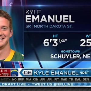 San Diego Chargers pick defensive end Kyle Emanuel No. 153 in 2015 NFL Draft