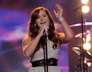 "FILE - In this April 25, 2012 file photo released by Fox, contestant Skylar Laine performs on the singing competition series ""American Idol,"" in Los Angeles. It was revealed Thursday, May, 3, 2012 on the Fox singing contest that the 18-year-old country rocker from Brandon, Miss., received the fewest viewer votes, leaving four finalists in the competition. (AP Photo/Fox, Michael Becker, File)"