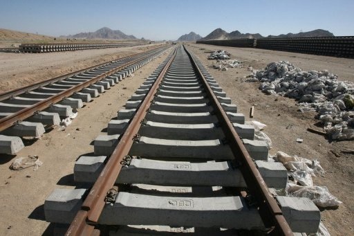 This file photo shows a general view of railway tracks near Iran's south-eastern city of Zahedan, pictured in 2007. Four people were killed and 26 injured late on Friday when a train derailed while running between Zahedan and the capital Tehran, according to the official IRNA news agency