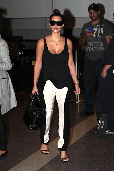 Kim Kardashian in Sass and Bide illusion pants