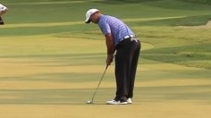 Woods pars No. 11 in Round 2 of AT&T National