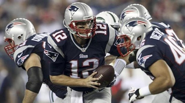 New England Patriots quarterback Tom Brady handles the ball in the first half against the New York Jets during their NFL AFC East football game in Foxborough, Massachusetts (Reuters)