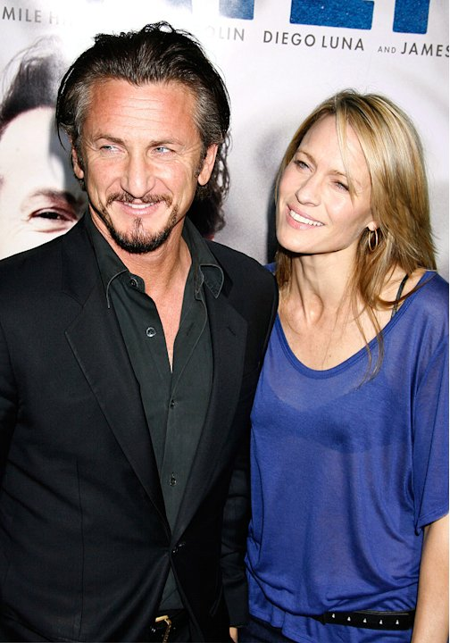Milk Los Angeles Premiere 2008 Sean Penn Robin Wright Penn