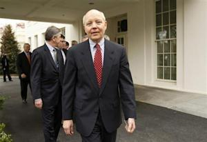 Freddie Mac Chief Executive John Koskinen departs the White House after a meeting about the economy with U.S. President Barack Obama in the State Dining Room in Washington