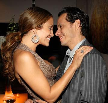 Jennifer Lopez and Marc Anthony at the San Juan, Puerto Rico premiere of Picturehouse's El Cantante