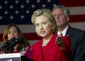 Former Secretary of State Hillary Clinton speaks at…