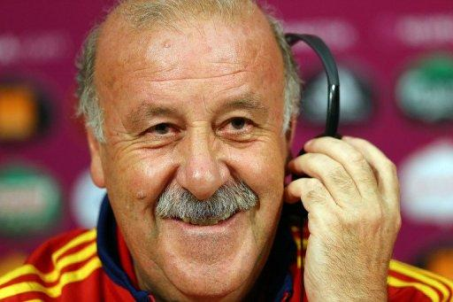 Spanish head coach Vicente Del Bosque, pictured in Donetsk, on June 26