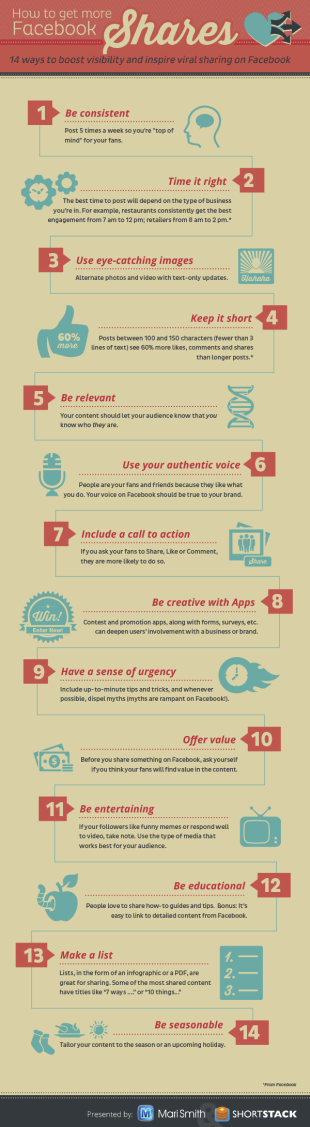Facebook Engagement Tips image facebook engagement infographic