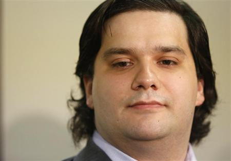 Mark Karpeles, chief executive of Mt. Gox, attends a news conference at the Tokyo District Court in Tokyo