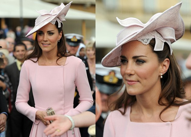 Kate Middleton, Jane Corbett hat, Emilia Wickstead dress