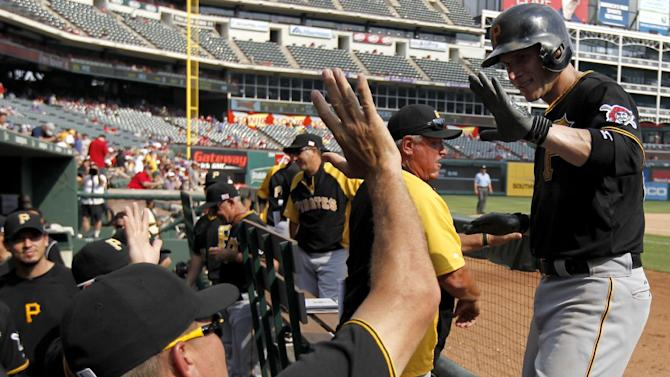 Pirates win 7-5 for 3-game sweep at Rangers