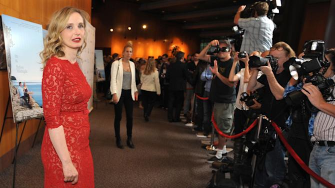 """IMAGE DISTRIBUTED FOR A-LIST COMMUNICATIONS - Julie Delpy attends the Sony PIctures Classics premiere of """"Before Midnight"""", on Tuesday, May 21, 2013 in Los Angeles. (Photo by John Shearer/Invision for A-List Communications/AP Images)"""