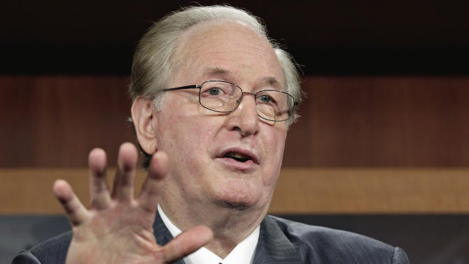 Senate Commerce Committee Chairman Sen. Jay Rockefeller, D-W.Va., talks about the need to overcome the partisan standoff over a bill to end the partial shutdown of the Federal Aviation Administration (FAA), Wednesday, Aug. 3, 2011, on Capitol Hill in Washington. (AP Photo/J. Scott Applewhite)