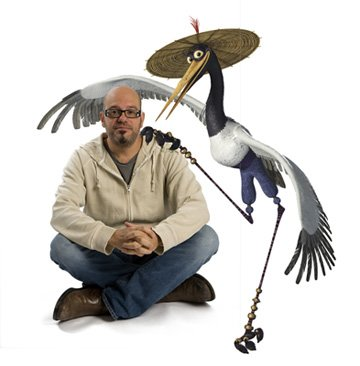 David Cross is the voice of Master Crane in DreamWorks Animation's Kung Fu Panda