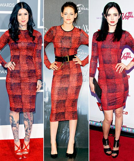 Who Wore It Best: Kat Von D, Kristen Stewart or Krysten Ritter?