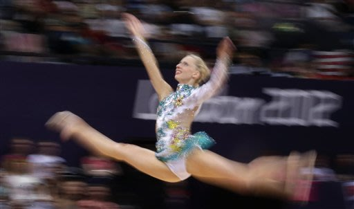 Olympic Female Gymnast Wardrobe Malfunctions http://sports.yahoo.com/photos/olympics-crazy-things-rhythmic-gymnasts-do-slideshow/london-olympics-rhythmic-gymnastics-photo-132721889--oly.html