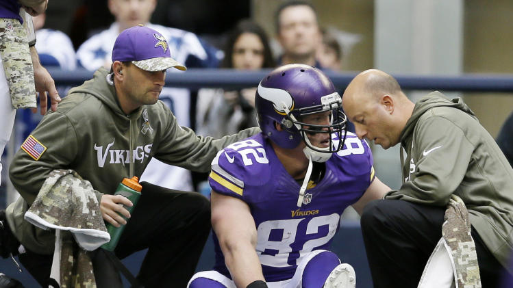 Ailing Vikings rule Loadholt out vs. Redskins