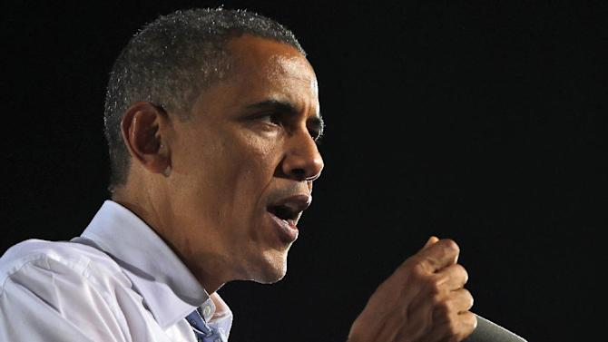 FILE -In this Sept. 30, 2012 file photo, President Barack Obama speaks in Las Vegas. Eventually, the economic recovery will improve _ whether Barack Obama or Mitt Romney is in the White House. That's what many economic outlooks project. History is on their side. And the president - and the party - occupying the Oval Office in 2016 will reap the benefits.  But first, Obama or Romney, together with Congress, will have to pull back from the universally unacceptable, politically created fiscal abyss facing the nation at year's end.  (AP Photo/Pablo Martinez Monsivais, File)