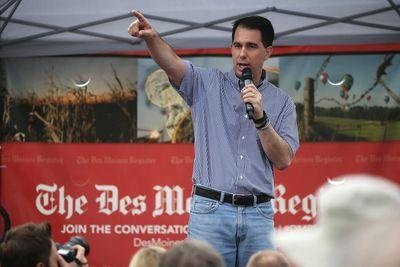 Scott Walker is trying to be the GOP primary's hawkiest hawk