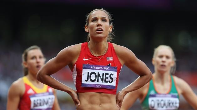 Lolo Jones of the United States looks on at the scoreboard in anticipation after competing in the Women's 100m Hurdles Semifinals on Day 11 of the London 2012 Olympic Games at Olympic Stadium on August 7, 2012 -- Getty Images