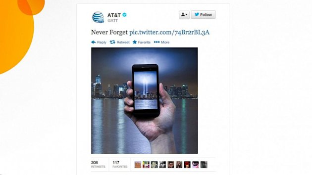 AT&T Slammed on Twitter and Facebook For Sept. 11 Marketing Move (ABC News)
