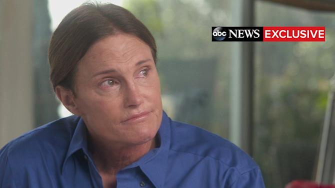 "Handout shows Bruce Jenner during a two-hour interview with ABC News anchor Diane Sawyer that aired as a special edition of ABC News' ""20/20"""