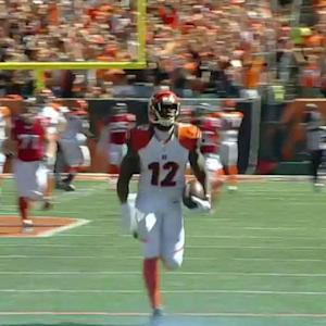 Cincinnati Bengals wide receiver Mohamed Sanu 76-yard touchdown catch