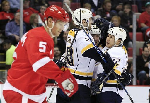 Predators move ahead of Red Wings with 4-1 win