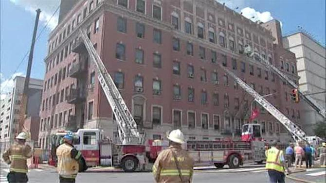 Fire in Temple University high rise on North Broad Street