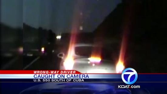 Wrong-way crash caught on video