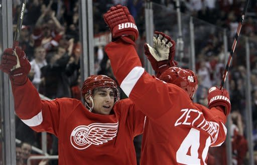 Red Wings win record 23rd straight at home