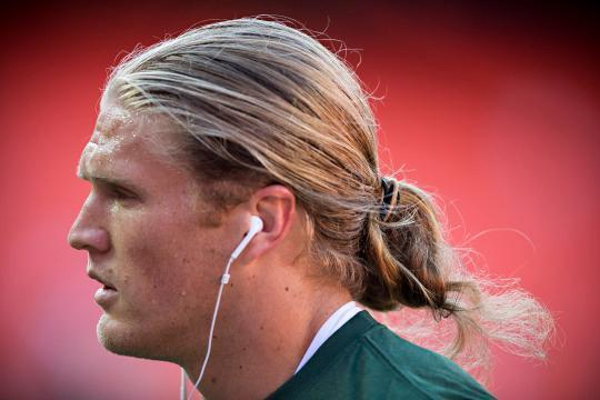 NFL Player Clay Matthews III Rocks a Man Bun Off the Field