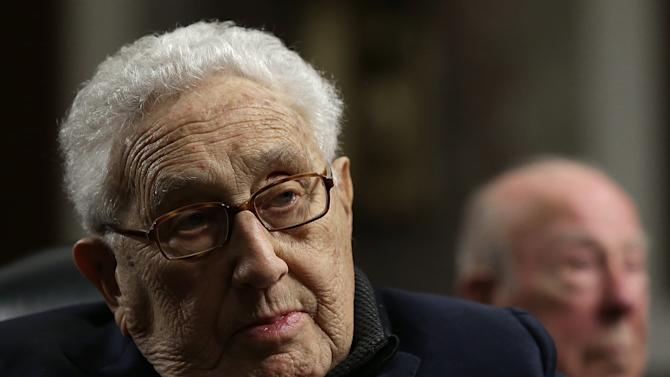 Former US Secretary of State Henry Kissinger testifies before the Senate Armed Services Committee January 29, 2015, in Washington, DC