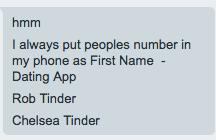 Dating apps have made saving phone numbers complicated