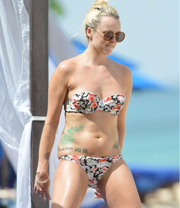 Celebrities in bikinis: Fearne Cotton hit the beach for a break in Barbados with her beau Jesse Wood, and doesn't she look amazing?
