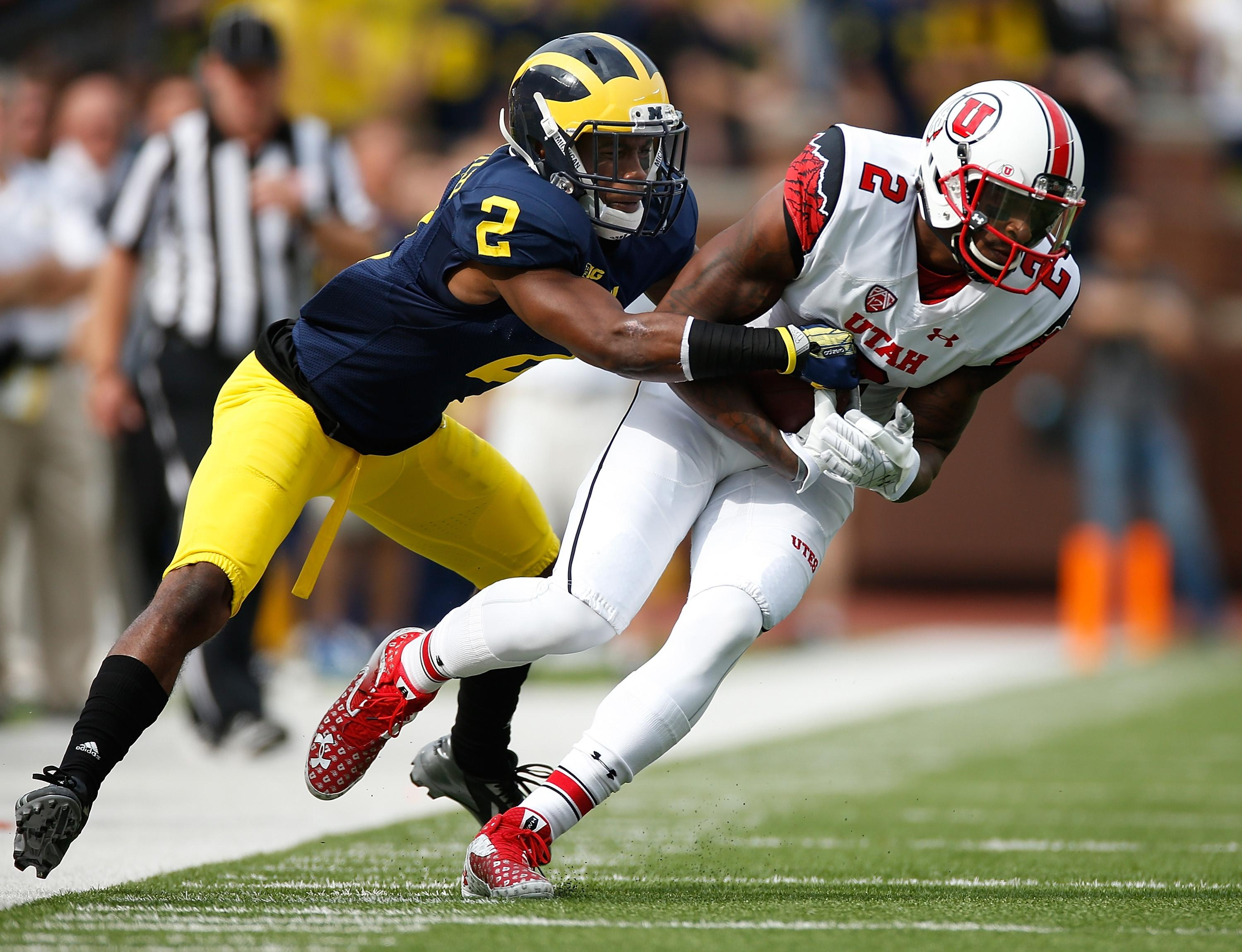 Michigan DBs Jabrill Peppers and Blake Countess show off gymnastics skills (Videos)